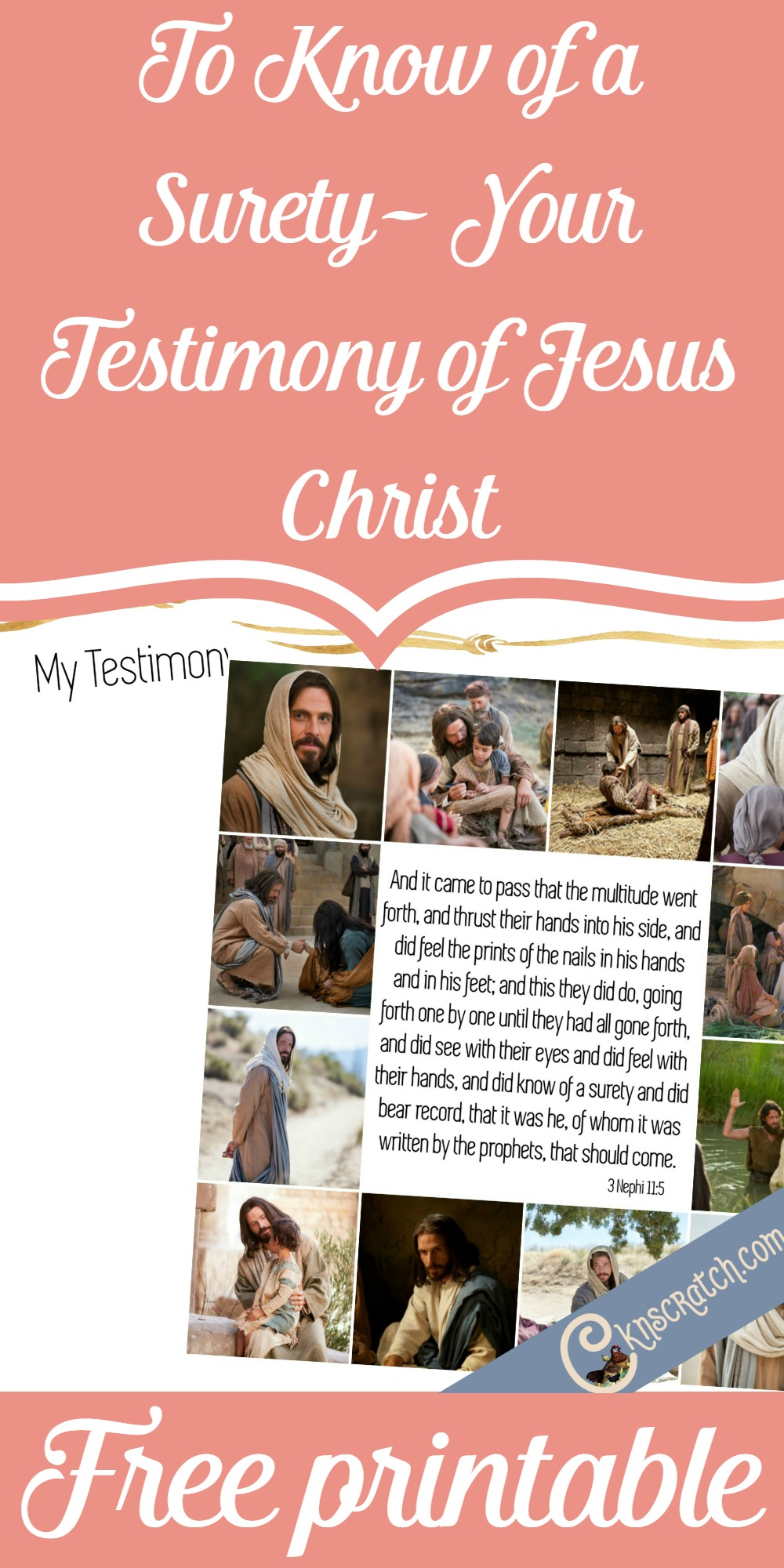 Free scripture printable for 3 Nephi 11:15- love this series of free scripture printables