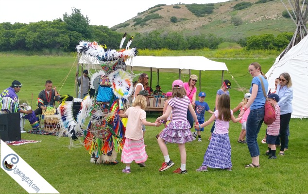 Learning on how to dance at This is the Place Heritage Park in Utah