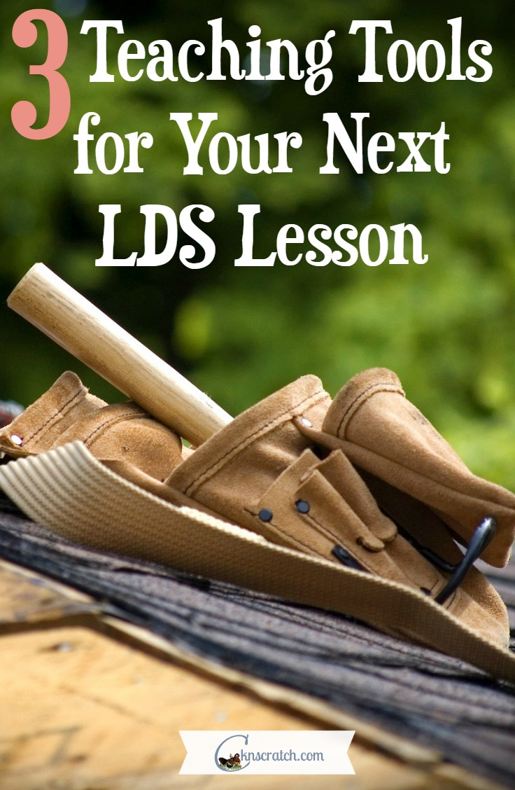 Love this- 3 teaching tools for your next LDS lesson- great for Primary or Youth!