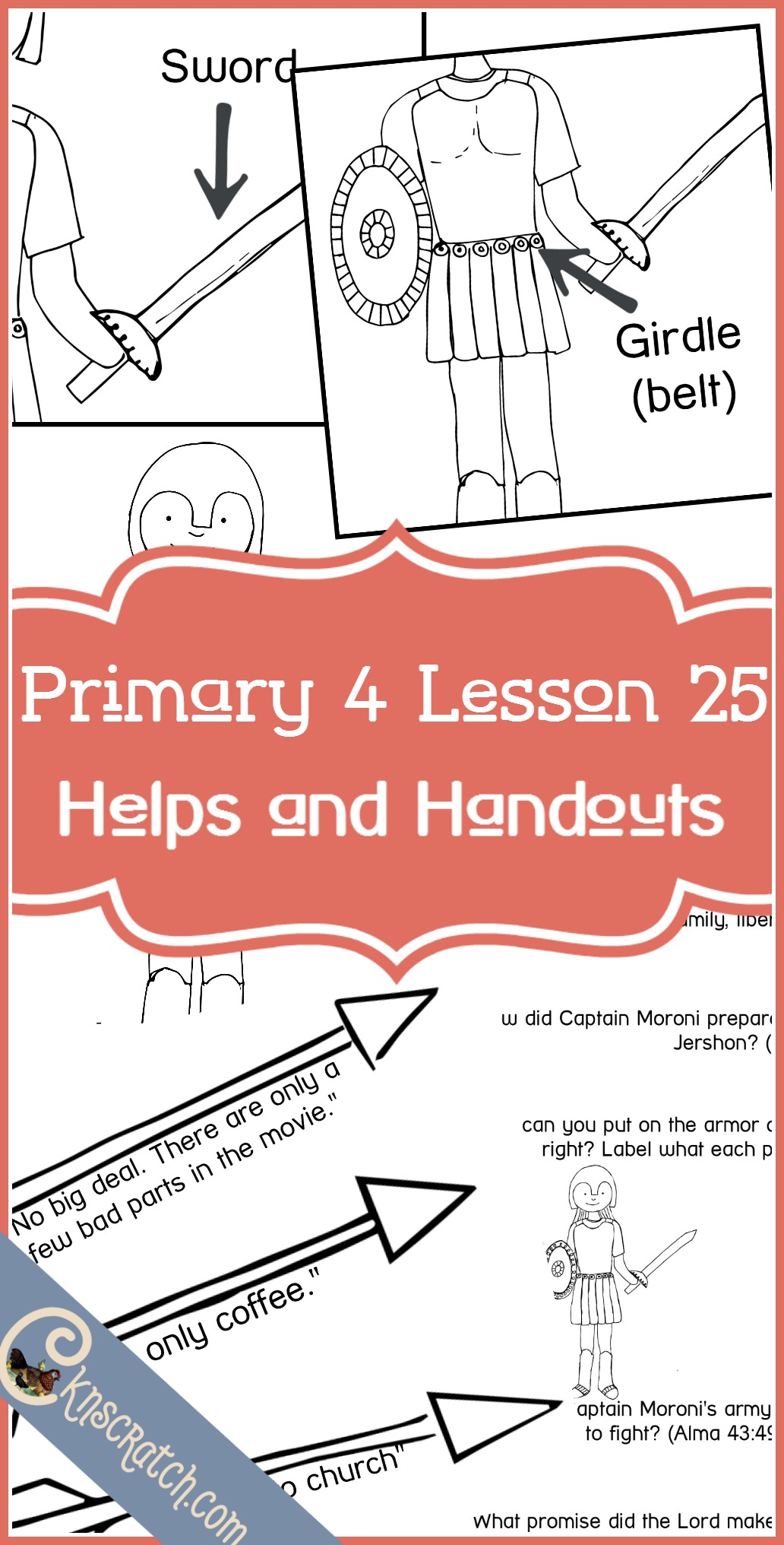 Awesome LDS lesson helps and handouts for Primary 4 Lesson 25: Captain Moroni Defeats Zerahemnah