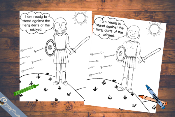 Great coloring pages for Primary 4 Lesson 26: Captain Moroni and the Title of Liberty