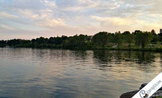 Sunset over Geneva Lake- great idea to stay here during your LDS Church History tour in New York