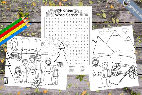 Fun pioneer printables for kids