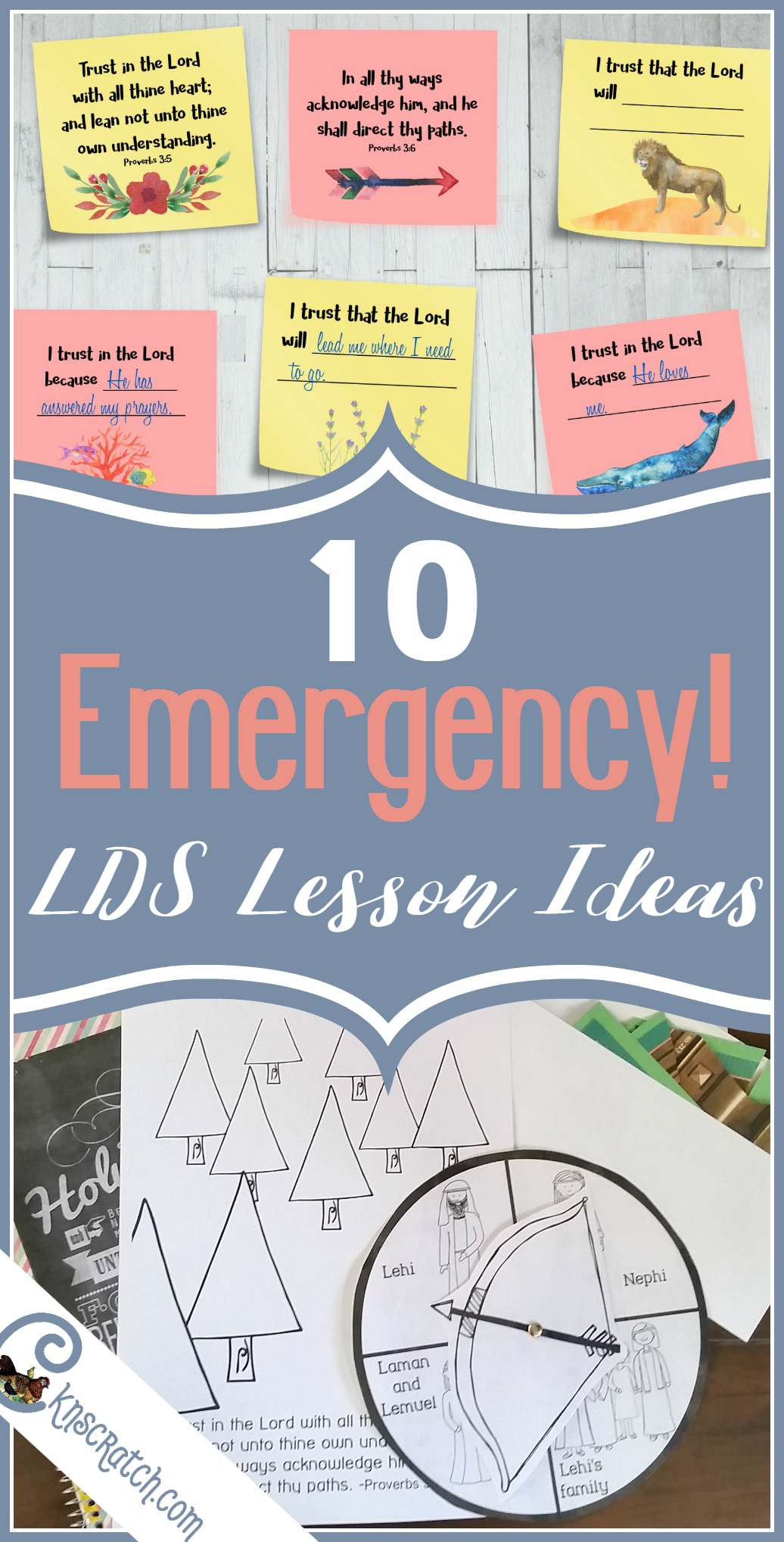 Oh this is handy! 10 emergency LDS lesson ideas- Primary and youth
