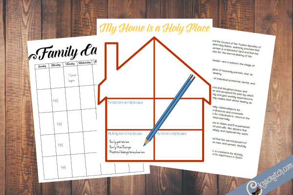 Free family printables to help you stay organized and keep your home a holy place