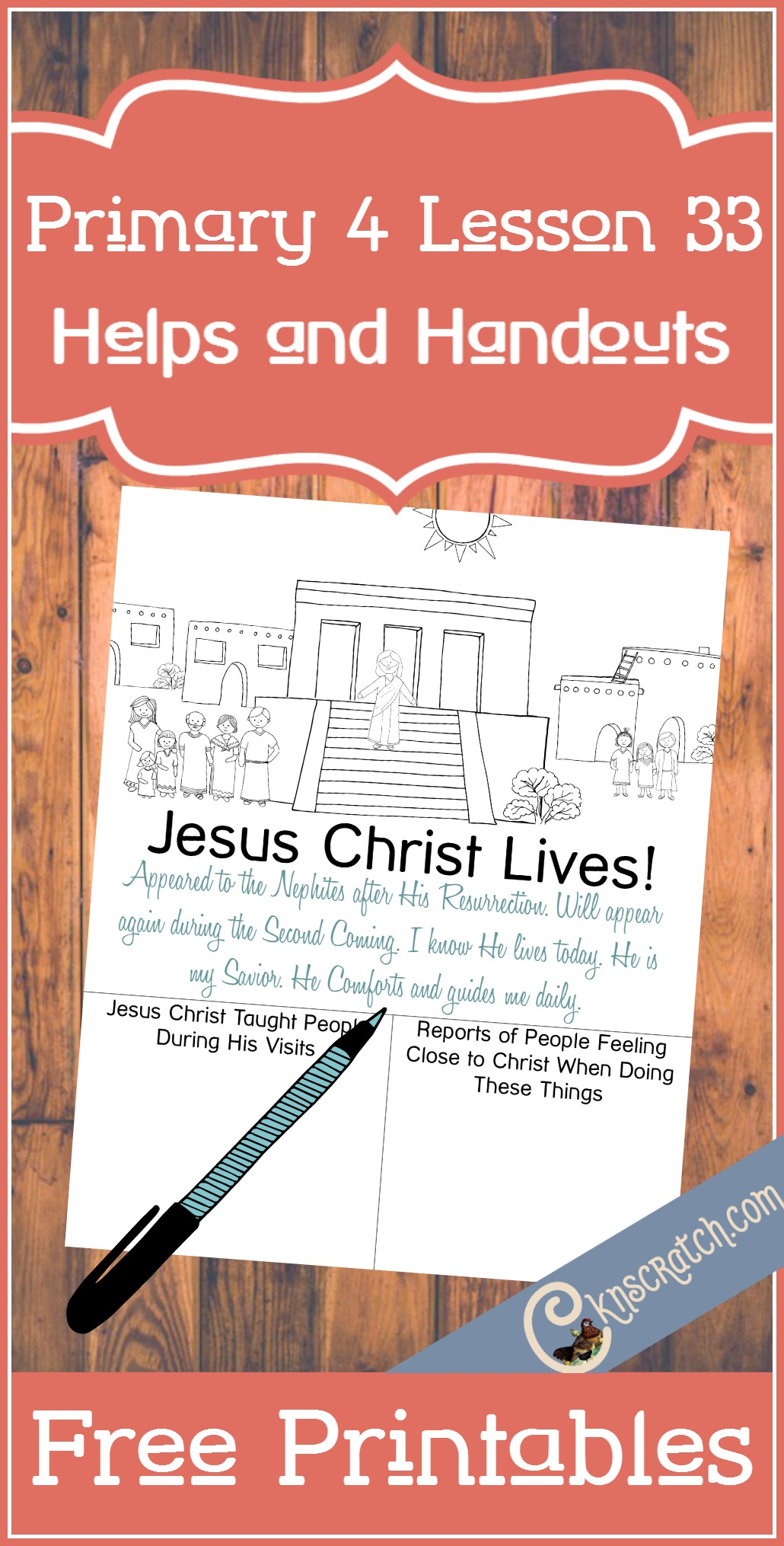 Great free LDS handouts plus loads of resources to help you teach Primary 4 Lesson 33: The Savior Appears to the Nephites