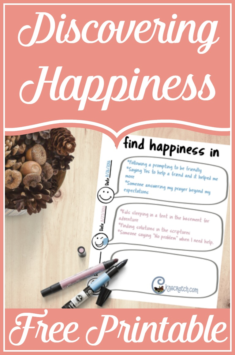 Being intentional about finding your happiness- great thoughts and I love the free printable to put it into action