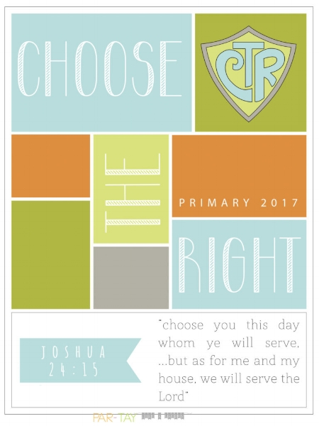 Choose the Right posters for Primary 2017