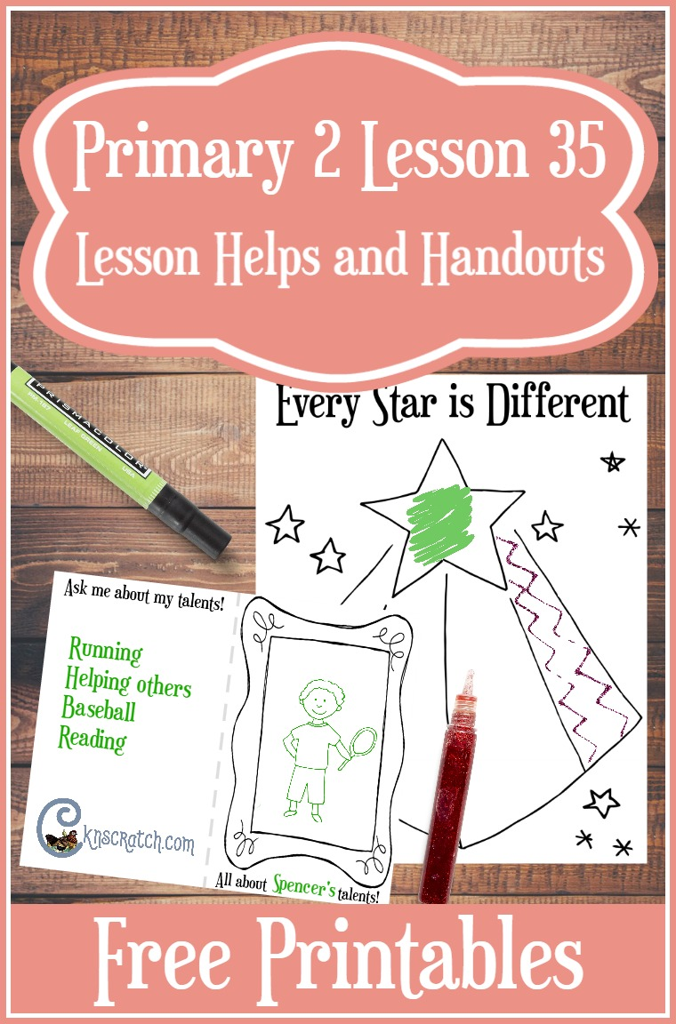 Love this site. Free LDS handouts and ideas for teaching Primary 2 Lesson 35: I Have Talents (Junior Primary)