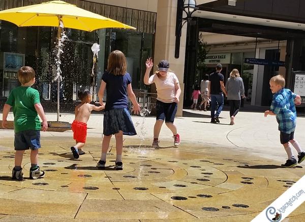 Plenty of splash pad fun near Temple Square