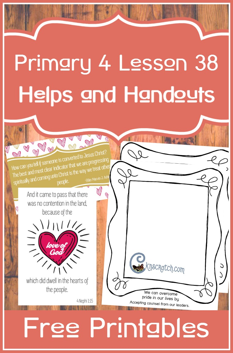 Awesome resource to get free handouts and more for LDS Primary 4 Lesson 38: Peace among the Nephites
