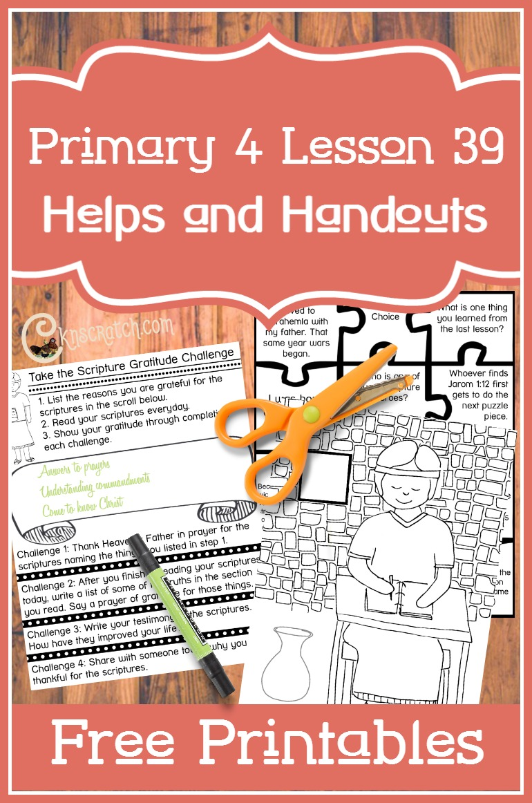 Great free printables to help teach Primary 4 Lesson 39: Mormon Witnesses the Destruction of the Nephites