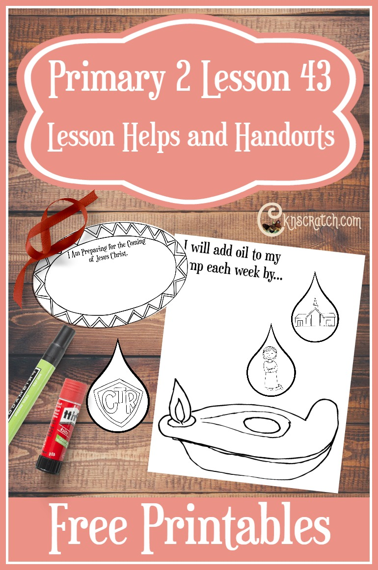 Great LDS Primary lesson helps and free handouts for Primary 2 Lesson 43: Jesus Christ Will Come Again