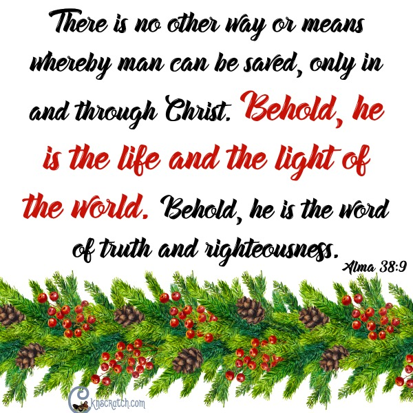 Christ is the light of the world