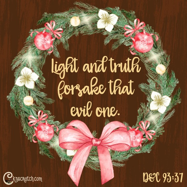 Love this scripture especially at Christmas!