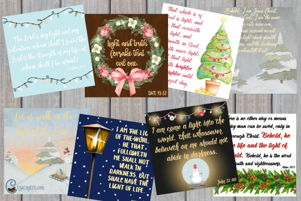 8 scripture quotes about light that you share this Christmas season. #LIGHTtheWORLD