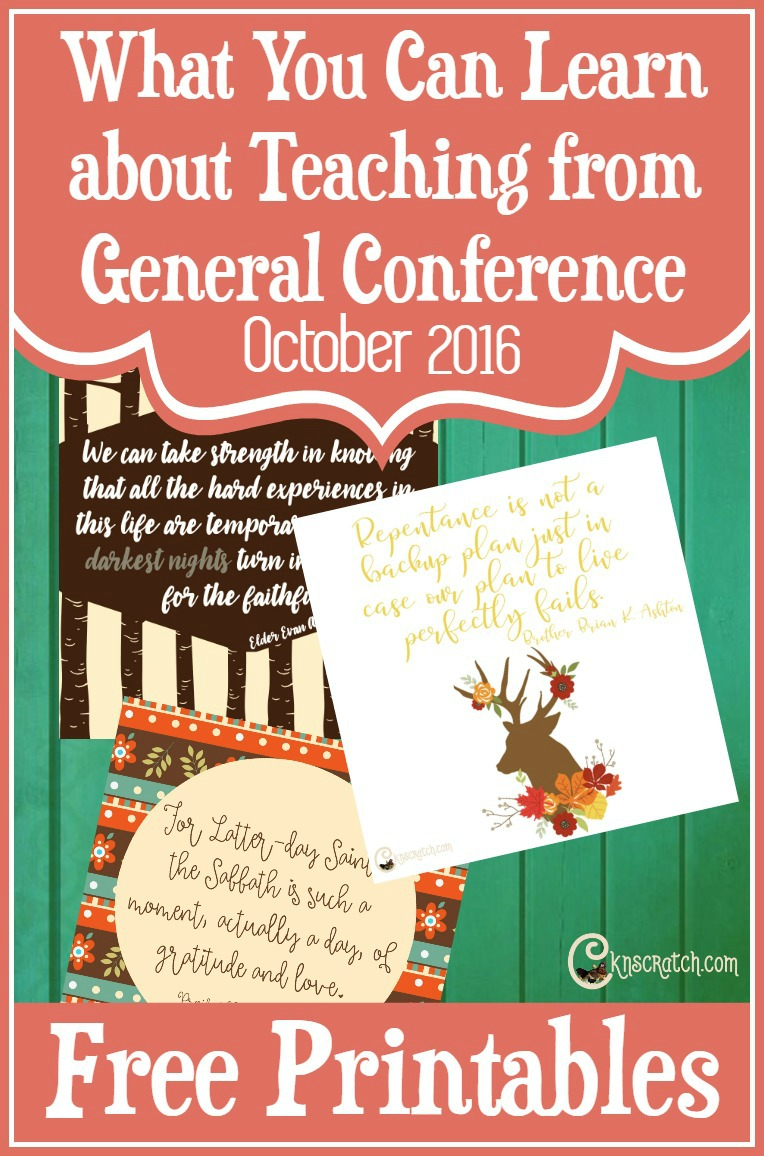 What a great idea- looking at General Conference from the perspective of improving as a church teacher