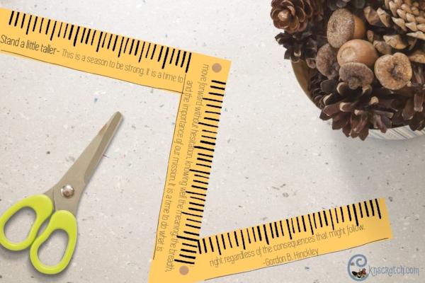 Great idea- Stand a little taller ruler handout to go with teaching Gordon B. Hinckley Chapter 2