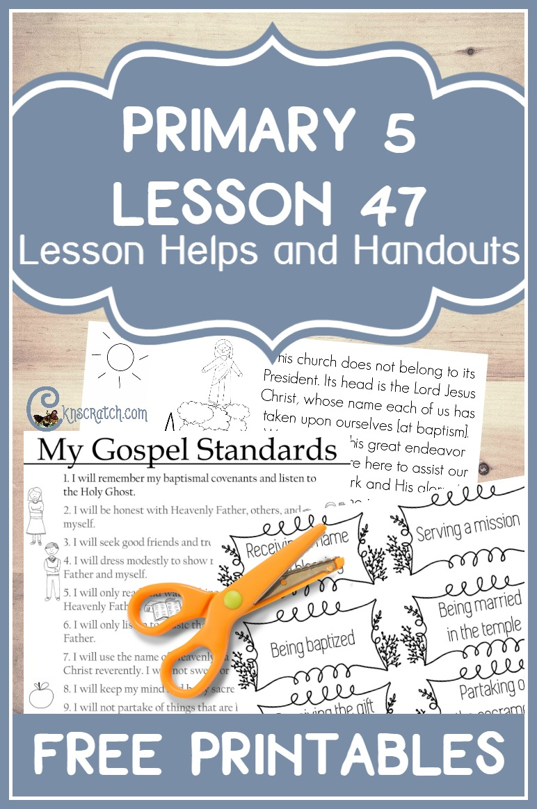 Great (and free) lesson helps and handouts for Primary 5 Lesson 47: The Priesthood Can Bless Our Lives (Priesthood Preparation Lesson)