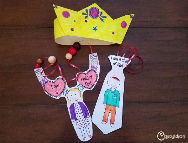 Crown and Child of God necklaces- great idea for LDS Primary