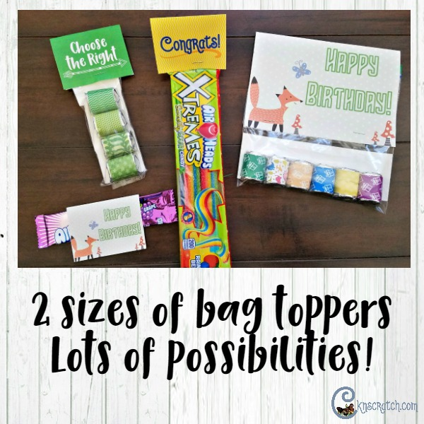 Great candy wrapper ideas!