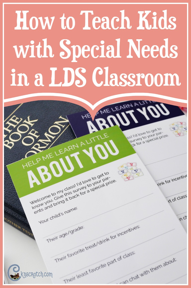Great tips for helping teach children with special needs in a LDS classroom- I've been looking for something like this.