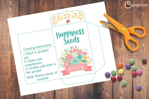 Happiness Seeds packet- great handout for Gordon B. Hinckley Chapter 3