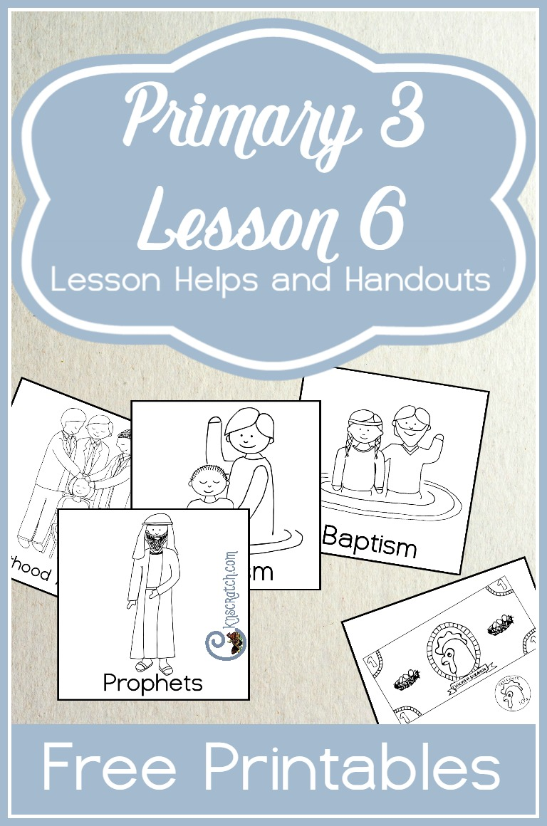 Great lesson helps and ideas for teaching LDS Primary 3 Lesson 6: The Restoration of Christ's Church