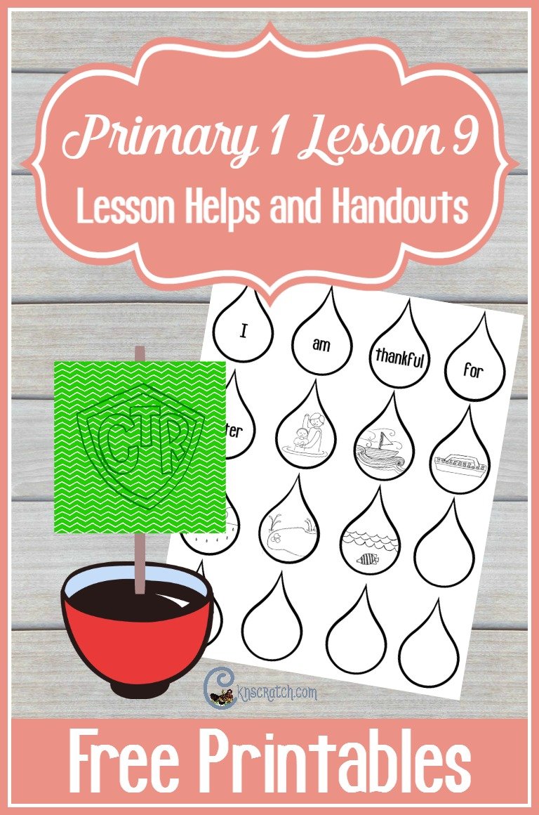 This is a fun idea for teaching Primary 1 Lesson 9: I Am Thankful for Water