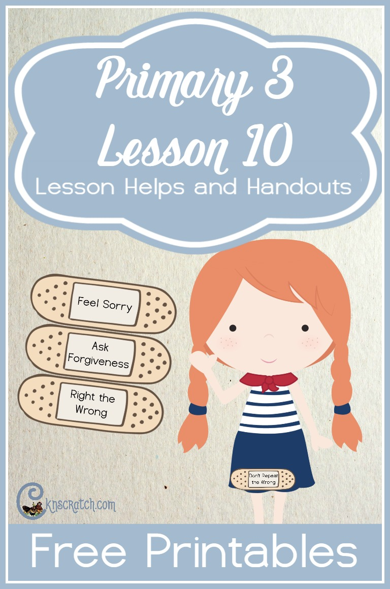 These are fun free handouts for teaching Primary 3 Lesson 10: Repentance