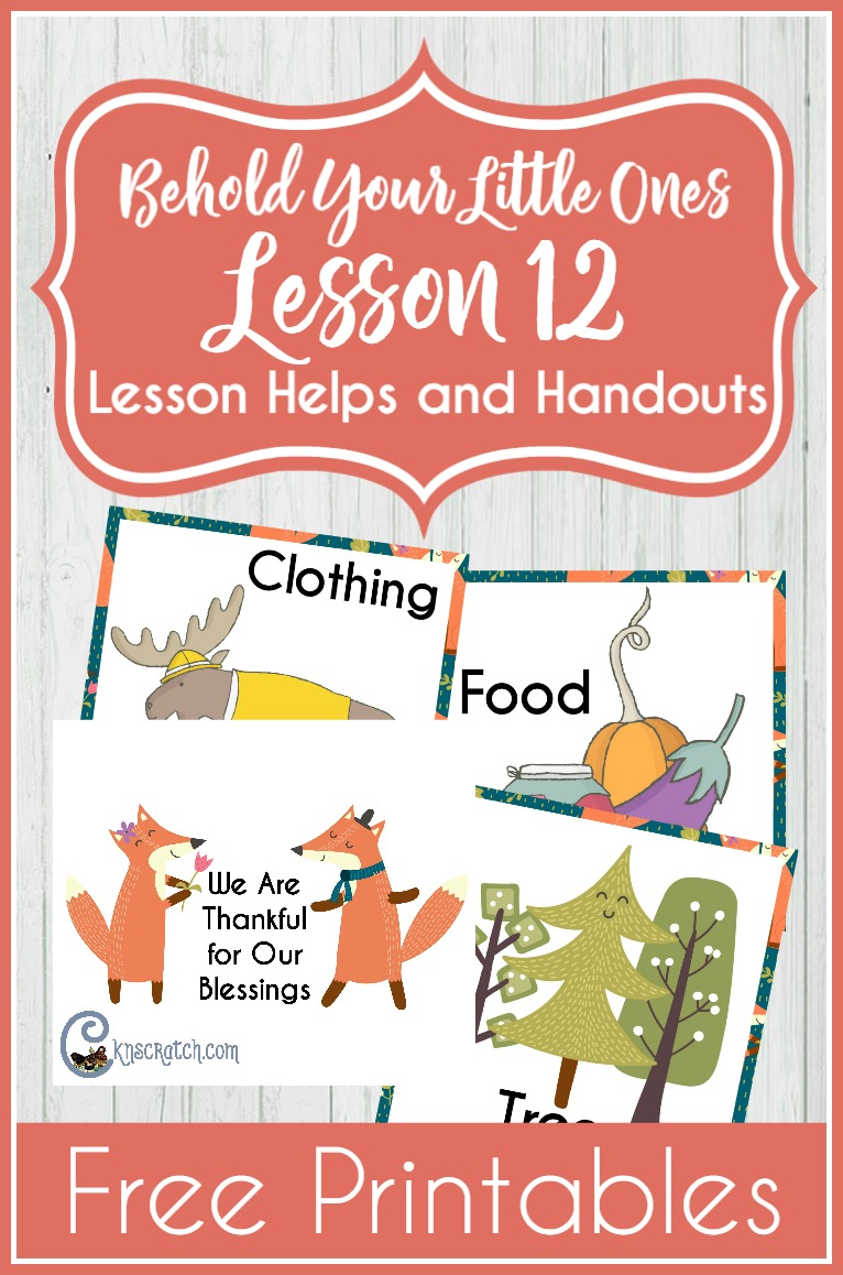 Great lesson helps and free printables for Behold Your Little Ones Lesson 12: I Can Pray with My Family