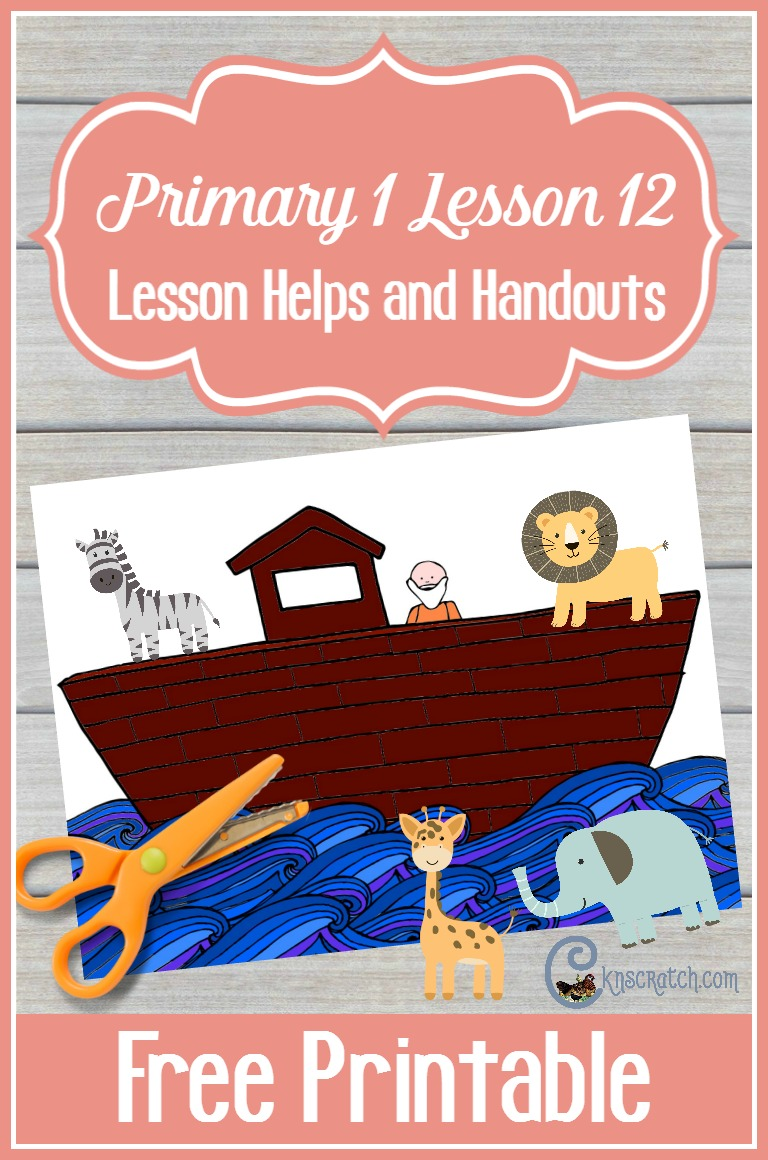 Love this Noah Ark's file folder for teaching Primary 1 Lesson 12: I am Thankful for Animals