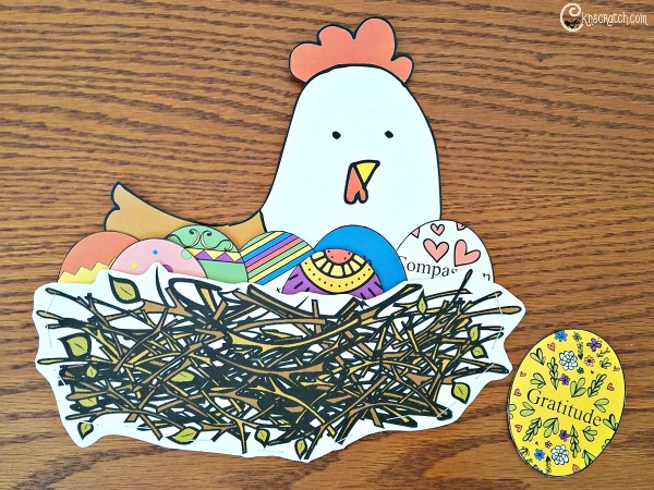 Free Easter chicken and eggs printables for #PrinceofPeace