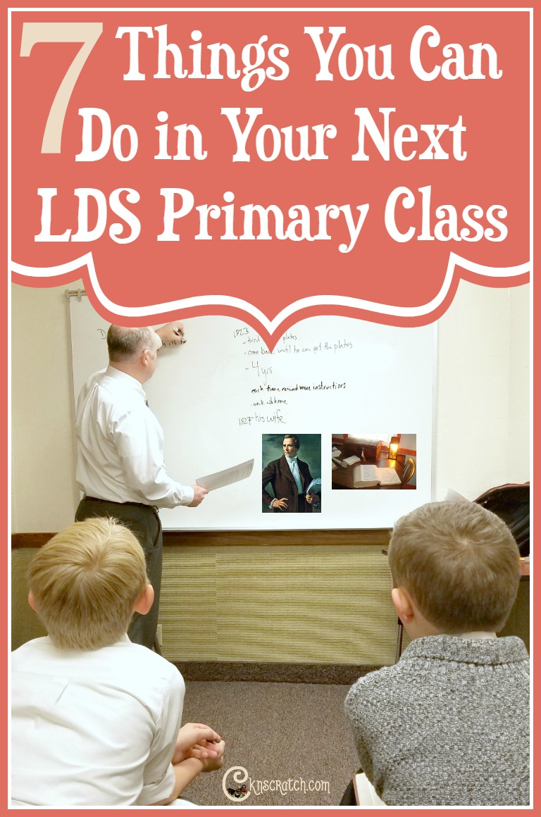 Great ideas for teaching any LDS Primary class!