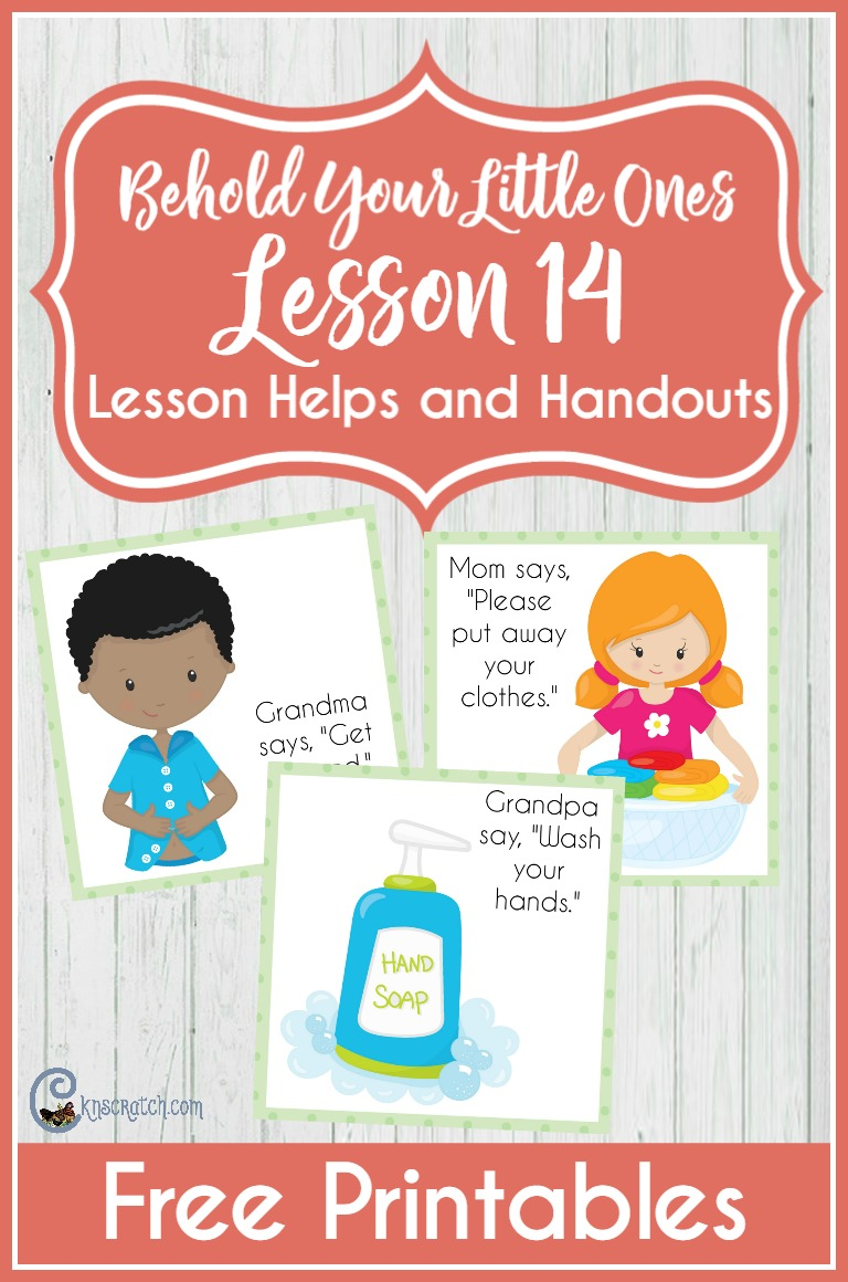 What a great resource for teaching LDS Behold Your Little Ones Lesson 14: I Will Obey (free handouts)