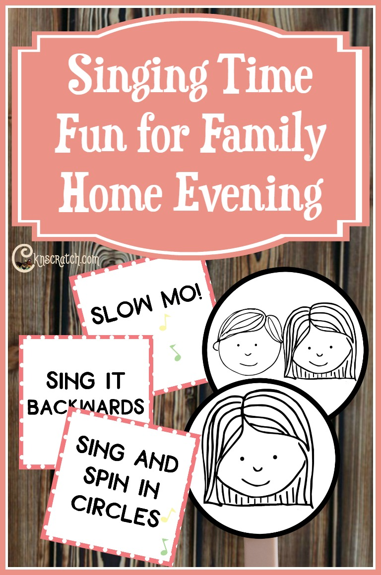 So fun! Great singing time ideas for Family Home Evening- love the free signs and singing cards too.