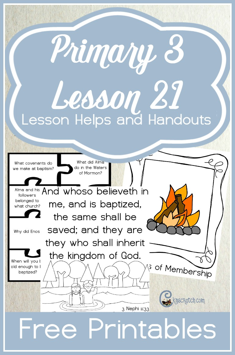 Great free printables for LDS Primary 3 Lesson 21: We Receive Great Blessings as Members of Jesus Christ's Church