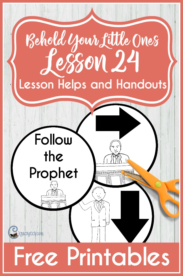 These are fun Follow the Prophet handouts for Behold Your Little Ones Lesson 24 (or even for a Family Home Evening)