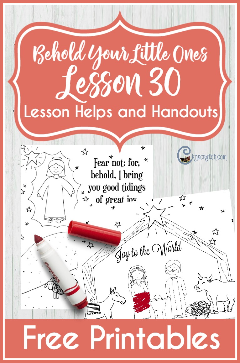Great LDS coloring pages for Behold Your Little Ones Lesson 30: Jesus Christ is the Son of Heavenly Father (Christmas lesson)