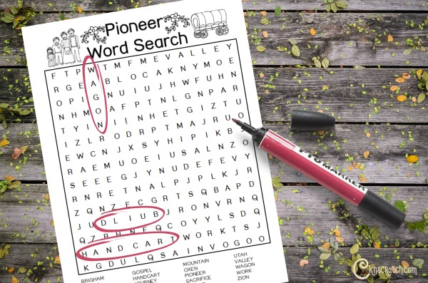 Free Pioneer Word Search