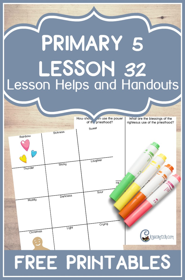 Free handouts and teaching helps for LDS Primary 5 Lesson 32: Joseph Smith Is Jailed Unjustly