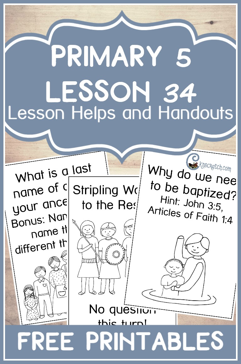 Now this is a fun idea to get the class to answer the questions for LDS Primary 5 Lesson 34: Joseph Smith Teaches about Baptism for the Dead