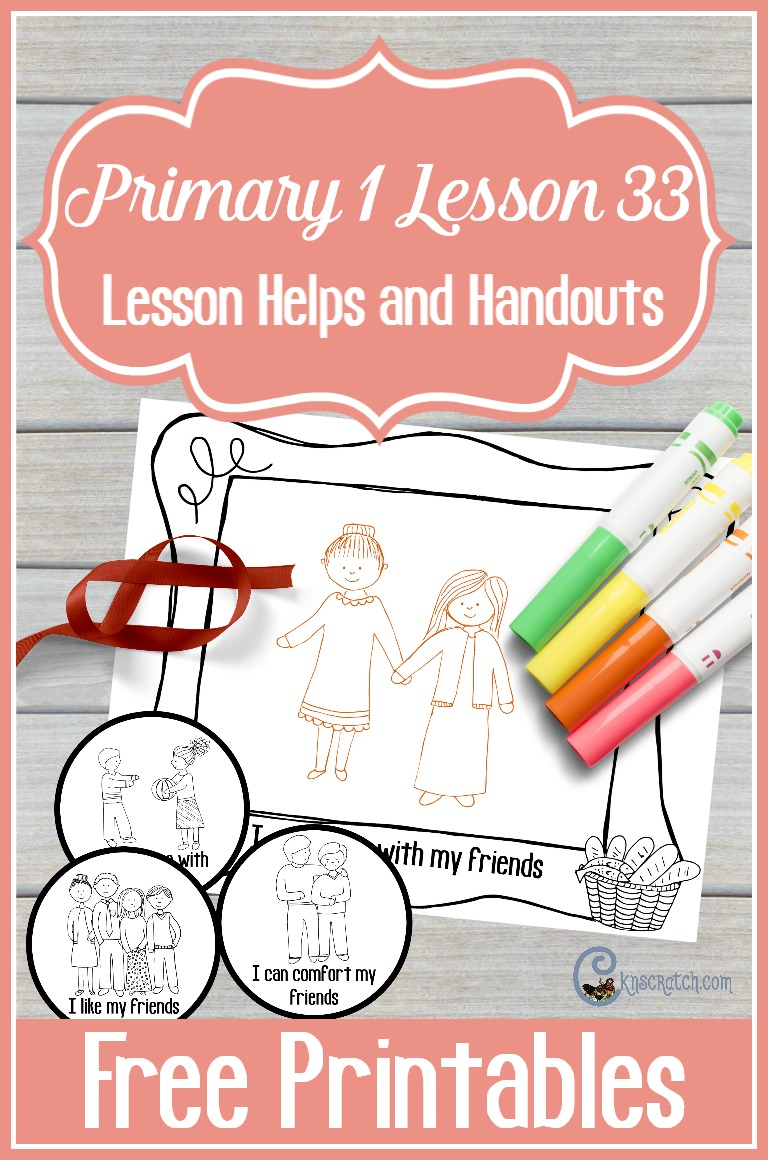 I like the friendship bracelet idea for Primary 1 Lesson 33: I Can Be a Friend
