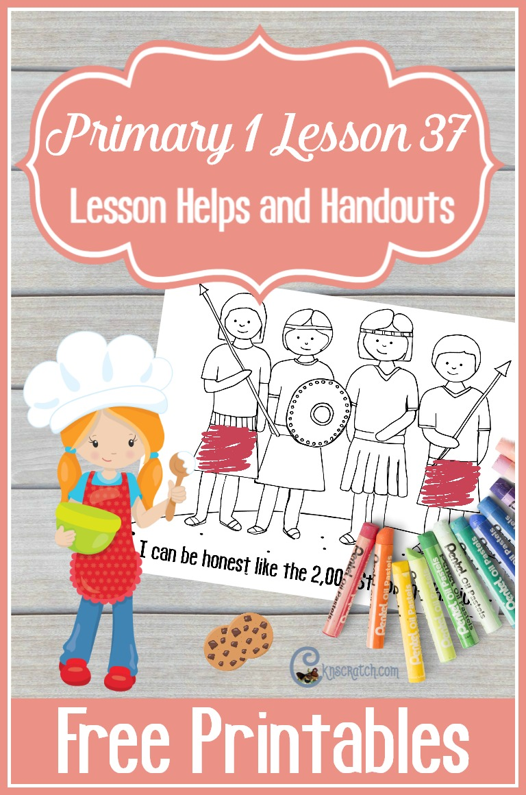 Free LDS handouts for Primary 1 Lesson 37: I Can Be Honest