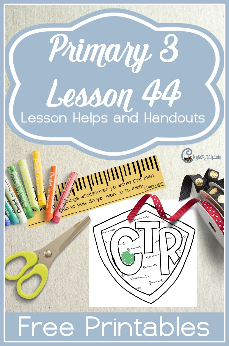 This are great free handouts for teaching LDS Primary 3 Lesson 44: Do Unto Others