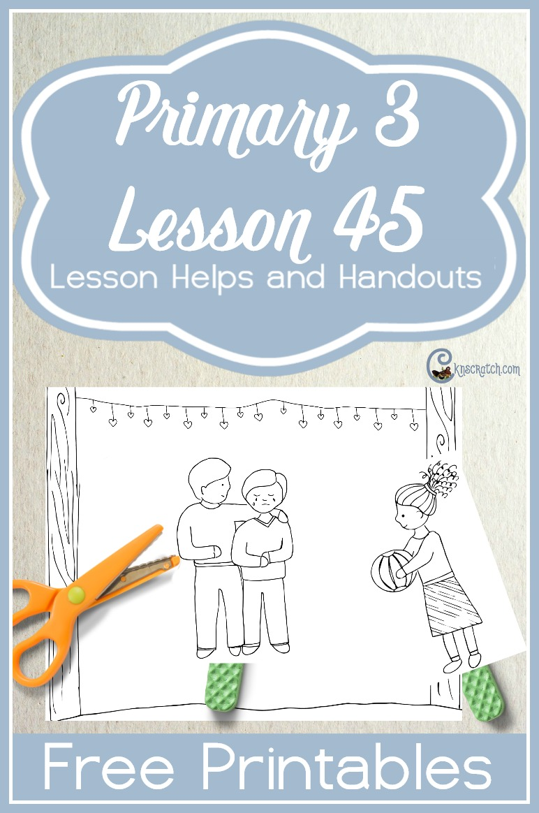 Great free handouts for teaching LDS Primary 3 Lesson 45: I Can Be a Good Example for My Family