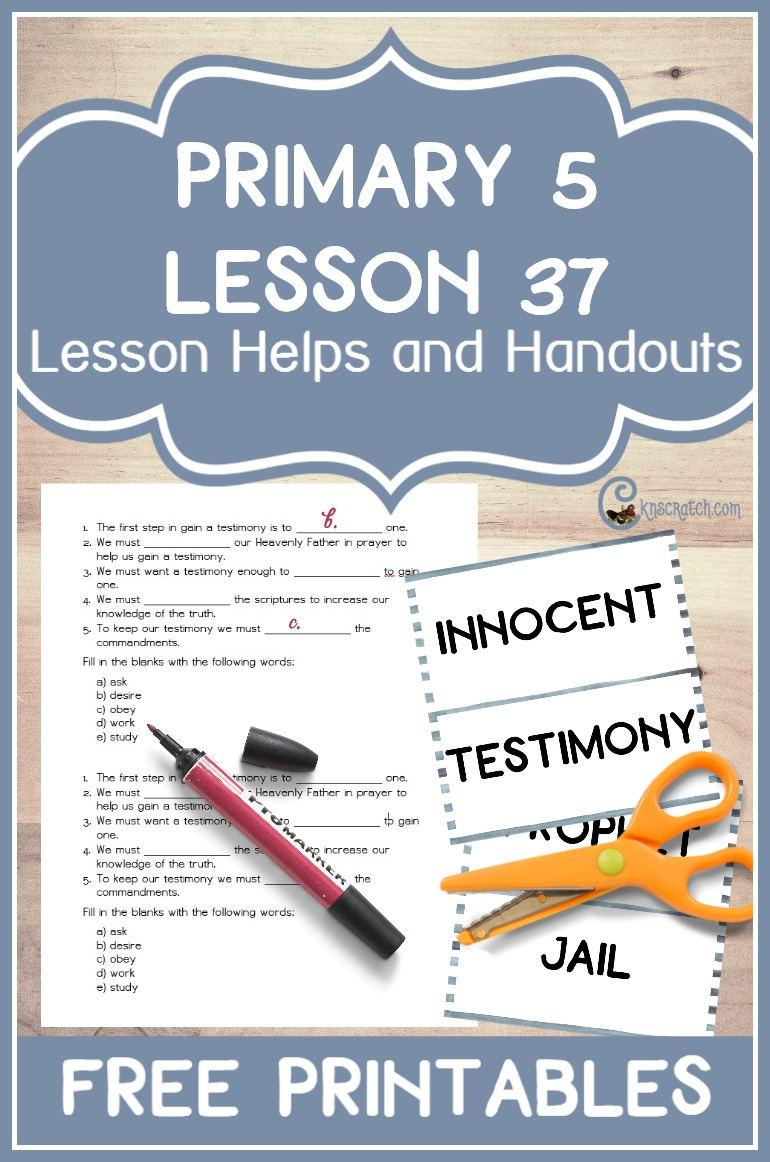 Great LDS site! Lesson helps and free handouts for teaching Primary 5 Lesson 37: Joseph and Hyrum Smith Are Martyred