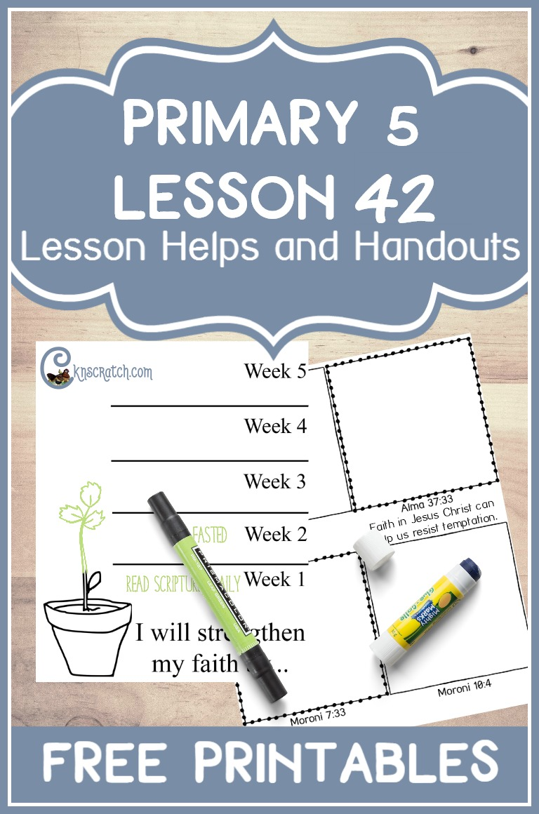 Great free LDS handouts for teaching Primary 5 Lesson 42: The Pioneers Show Their Faith in Jesus Christ