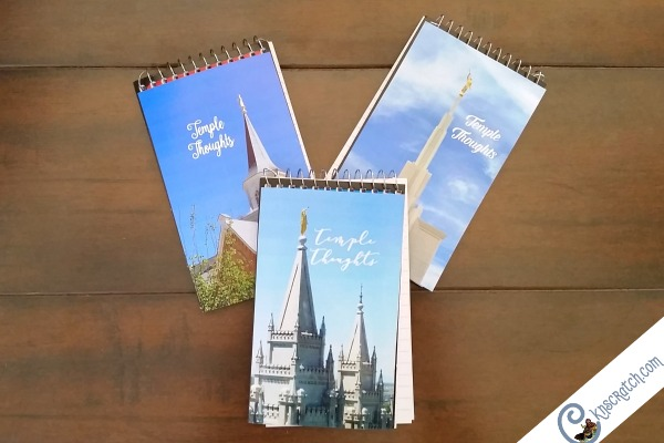 Love this idea of a Temple Thoughts notebook!