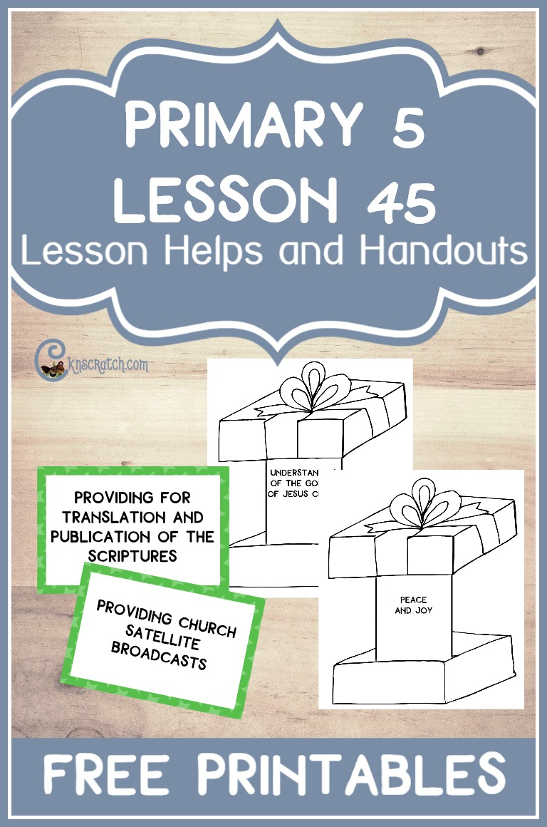 Great LDS lesson helps and free handouts for Primary 5 Lesson 45: Lorenzo Snow Receives a Revelation on Tithing